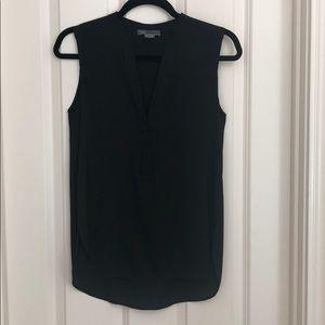 NWOT Vince black silk sleeveless blouse size xs